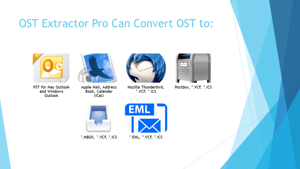 conversion of OST file into PST