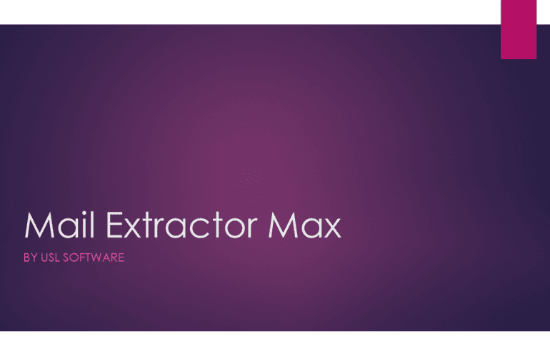 Mail Extractor Max, the best Apple Mail Converter