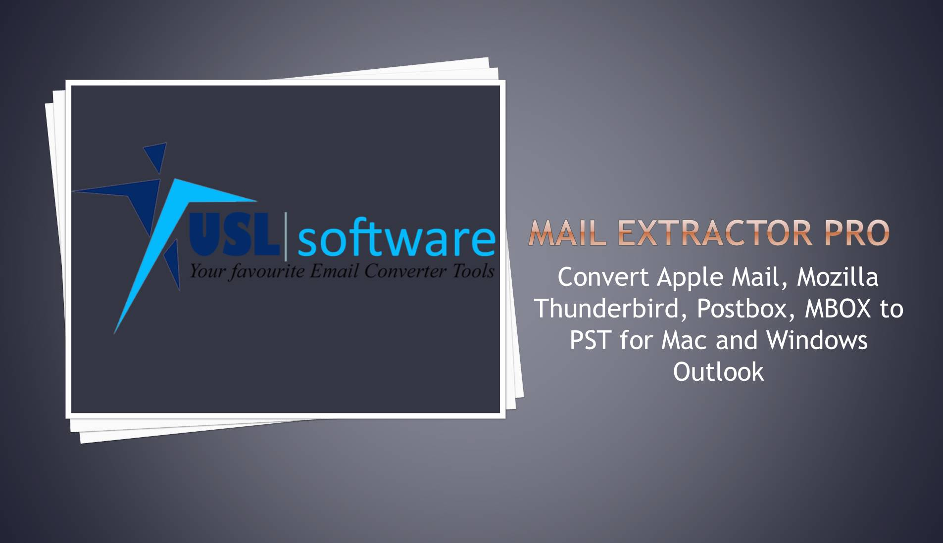 The one and only Mac Mail EMLX to PST converter that